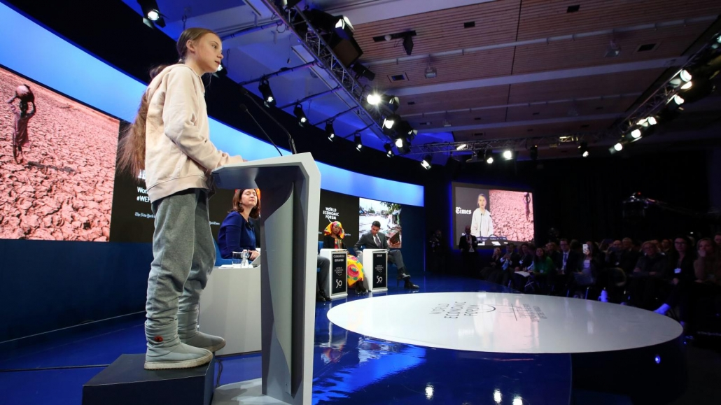 world economic forum, davos, switzerland, 2020, greta thunberg, climate change, sustainability, politics